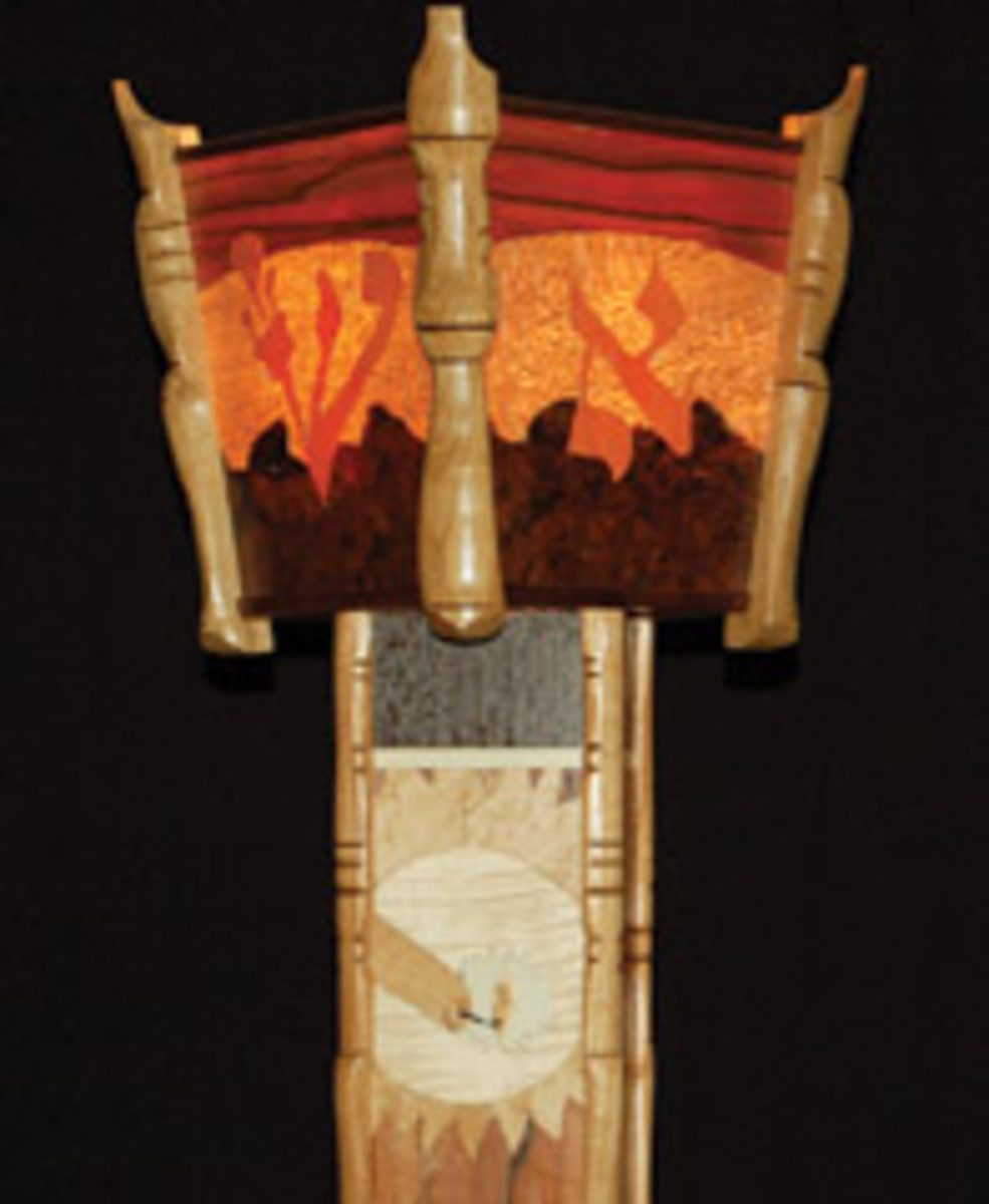 Hebrew letters are incorporated into the top of the lamp.