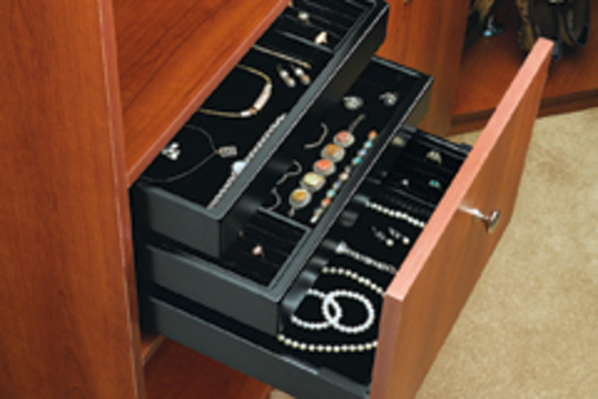 Jewelry storage compartment.