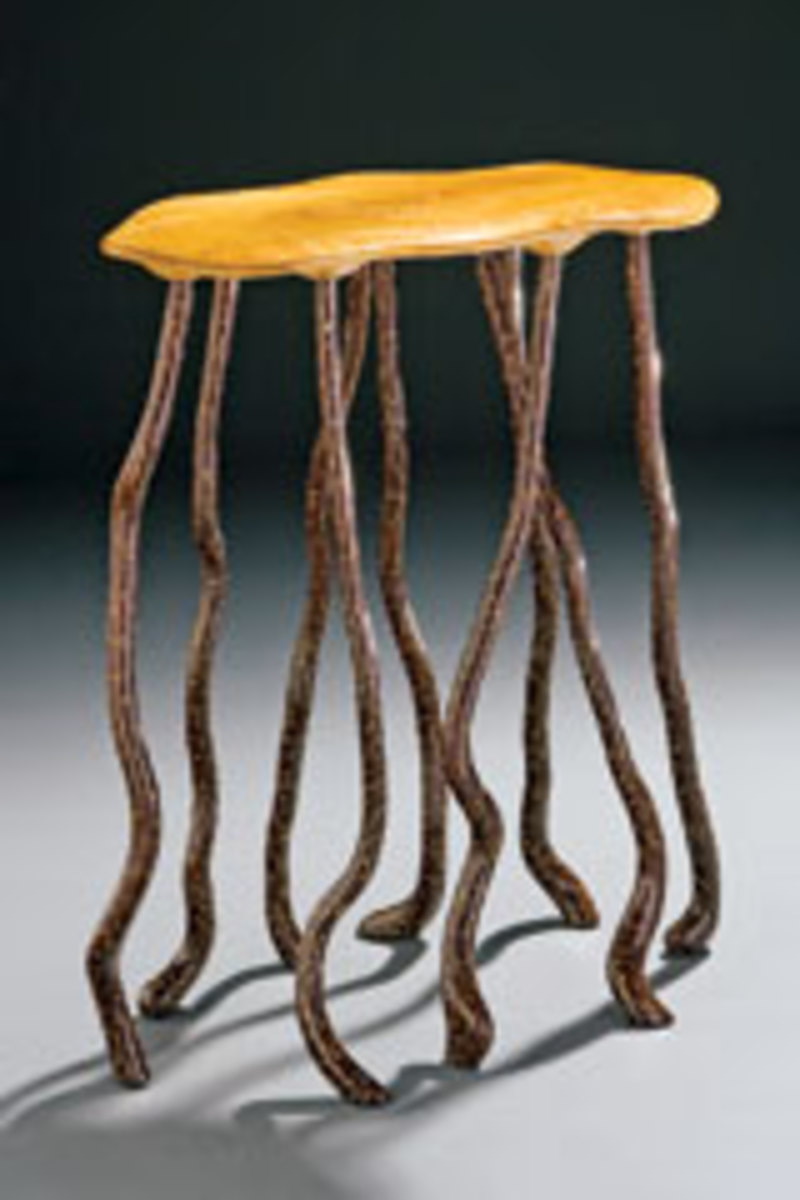 Citron Altar, by Jon Brooks, made of sugar maple with acrylic, stain, varnish and lacquer.