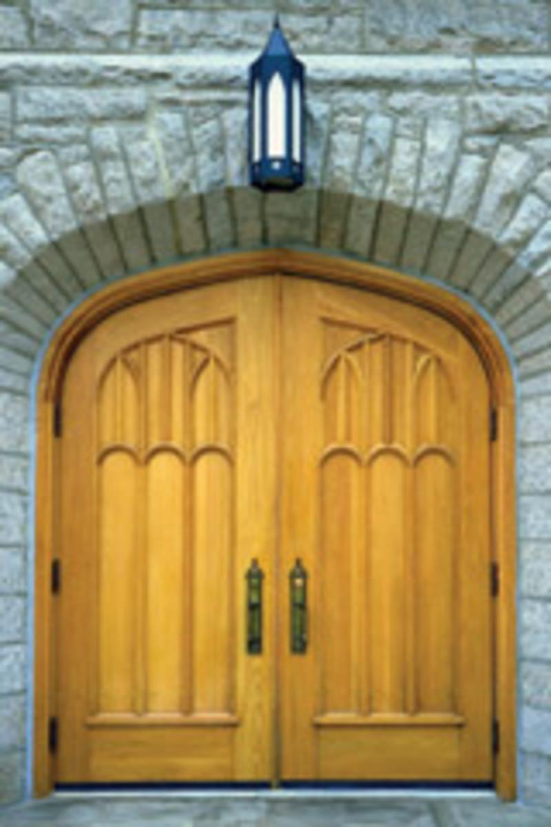 Doyle made these custom doors for St. Matthias Church in Bala Cynwyd, Pa.