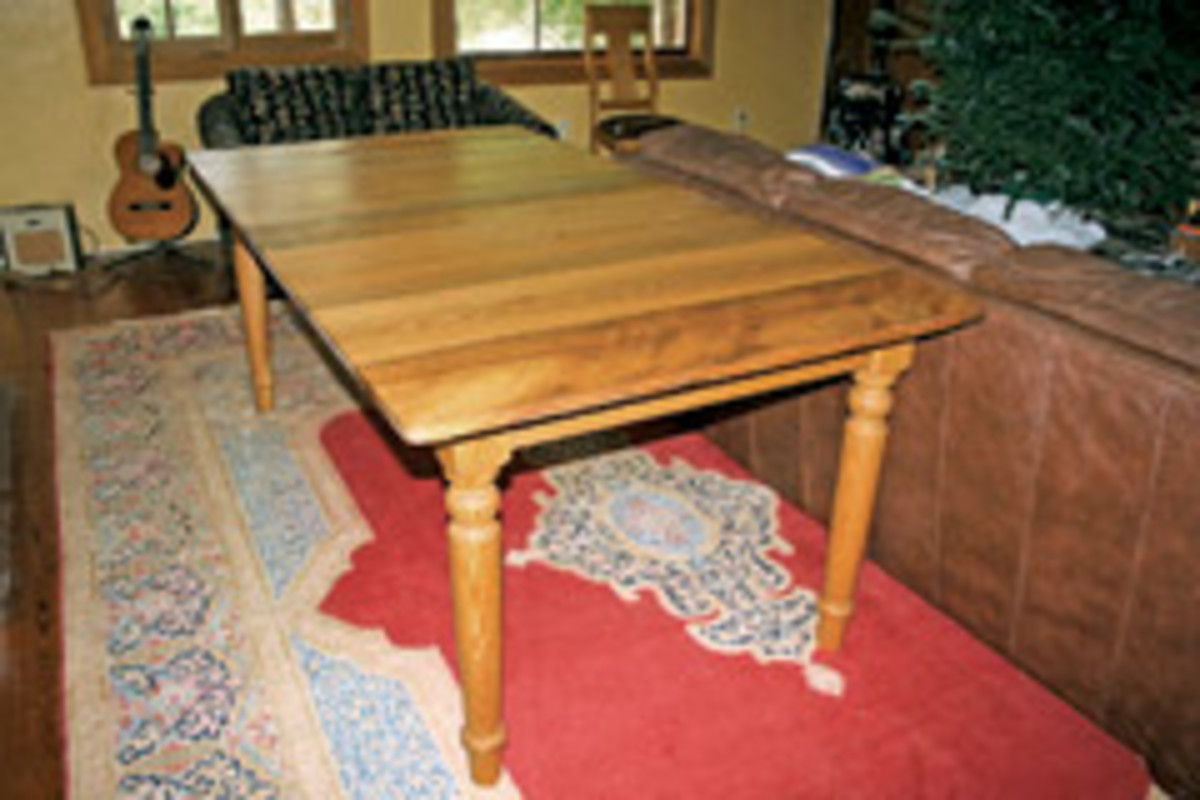 DeGruy used sinker cypress for this table.