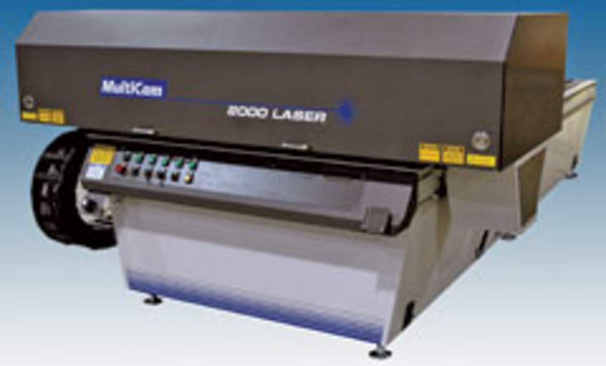 "MultiCam offers the 2000 Series CNC laser, available in 60""and 80"" widths and lengths up to 240""."