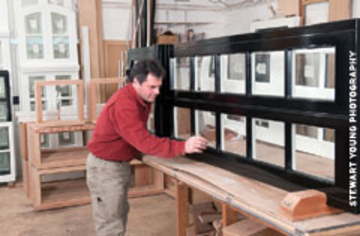 Custom doors and windows are a shop specialty.