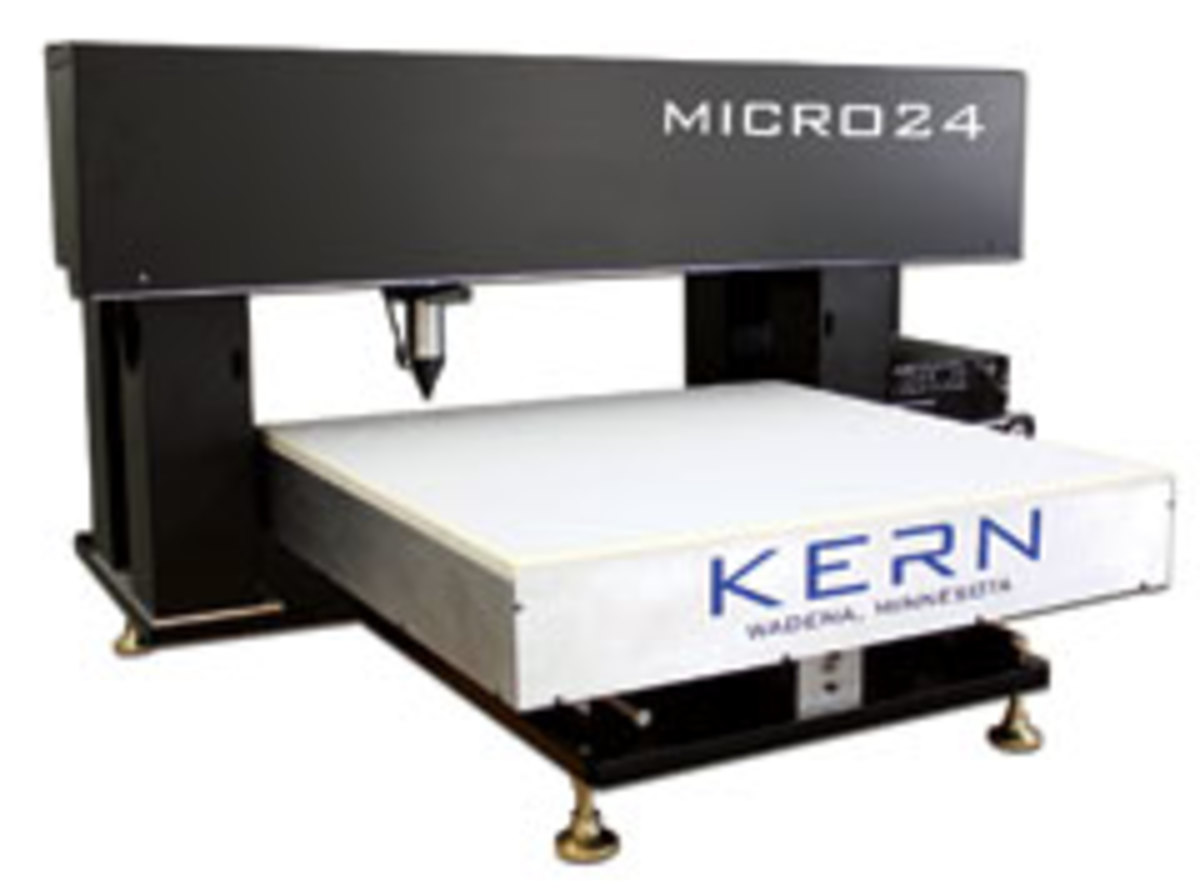 The Micro 24, from Kern Laser Systems, has an open-bed design.