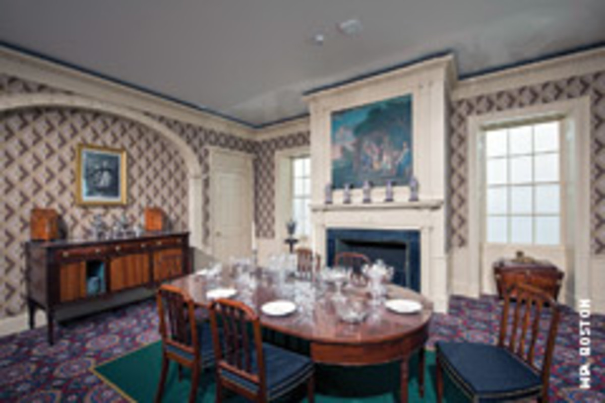 The expansion includes a gallery based on the design of the dining room in Oak Hill's country estate in Peabody, Mass.