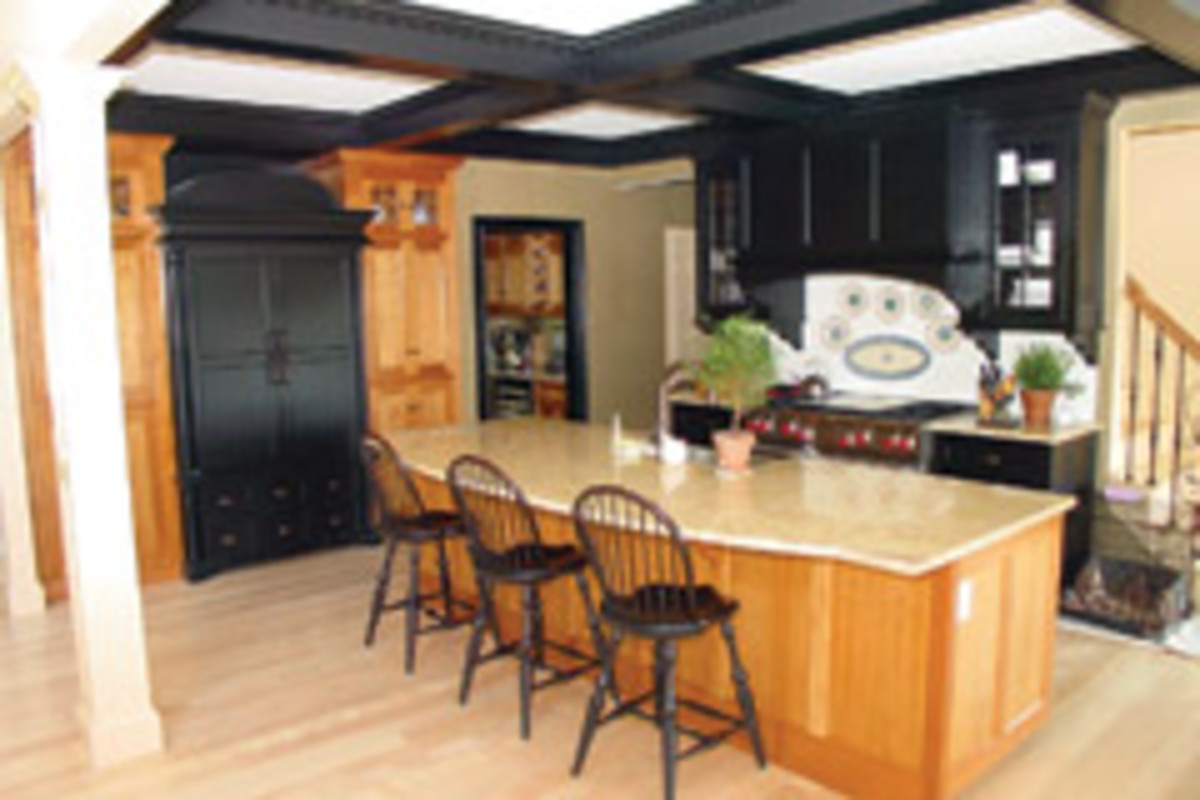Kitchens represent 80 to 85 percent of Custom Wood Design's business.