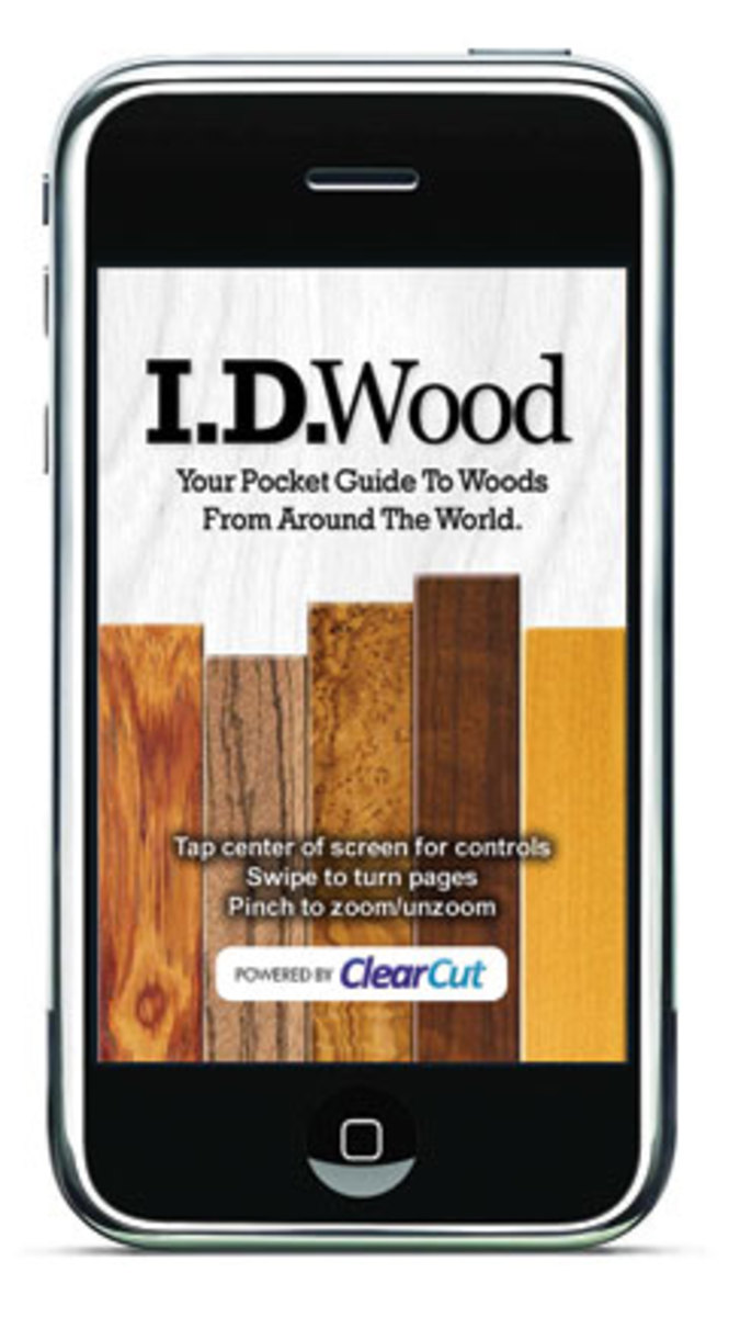 """The iPhone and iPod application """"I.D.Wood"""" has been popular with architects and designers."""