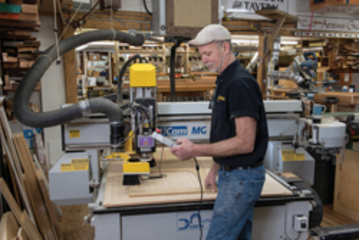 Johnson bought a used CNC router in 2004.