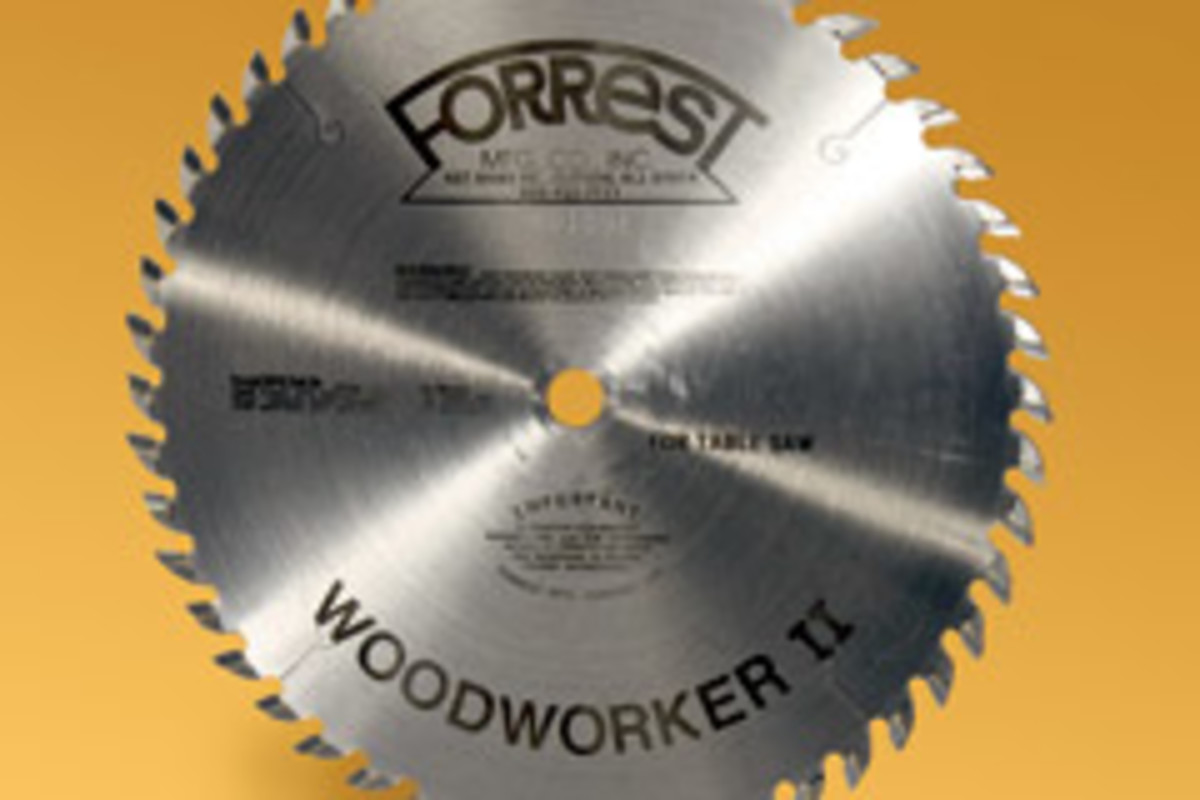 Forrest's Signature Line Woodworker II saw blades.