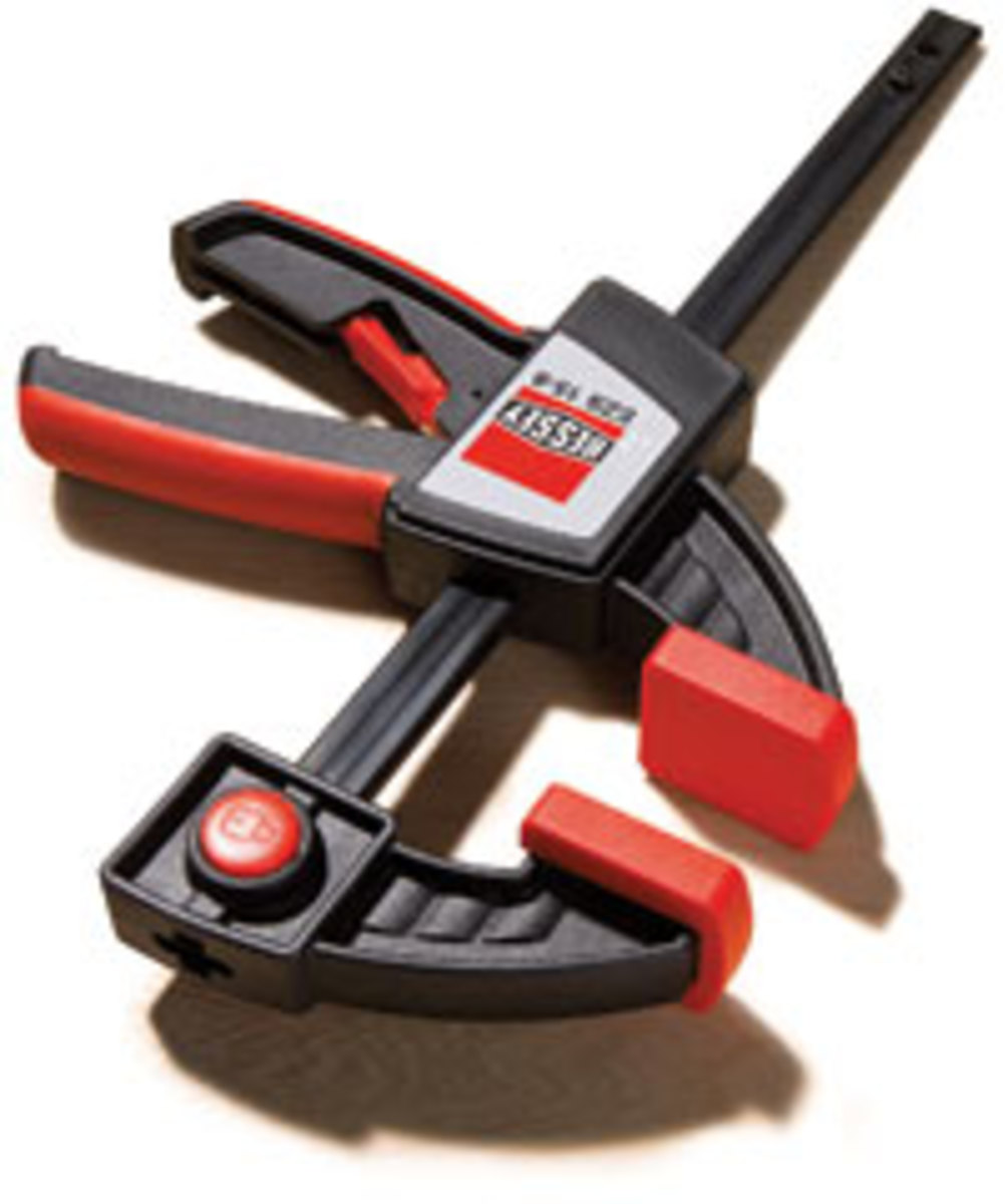 The Bessey EZS one-hand clamp.