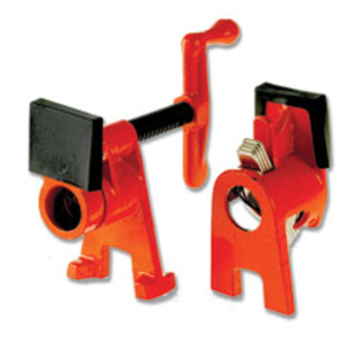 The Bessey H-Series Pipe Clamp features a taller design to lift work above the surface.
