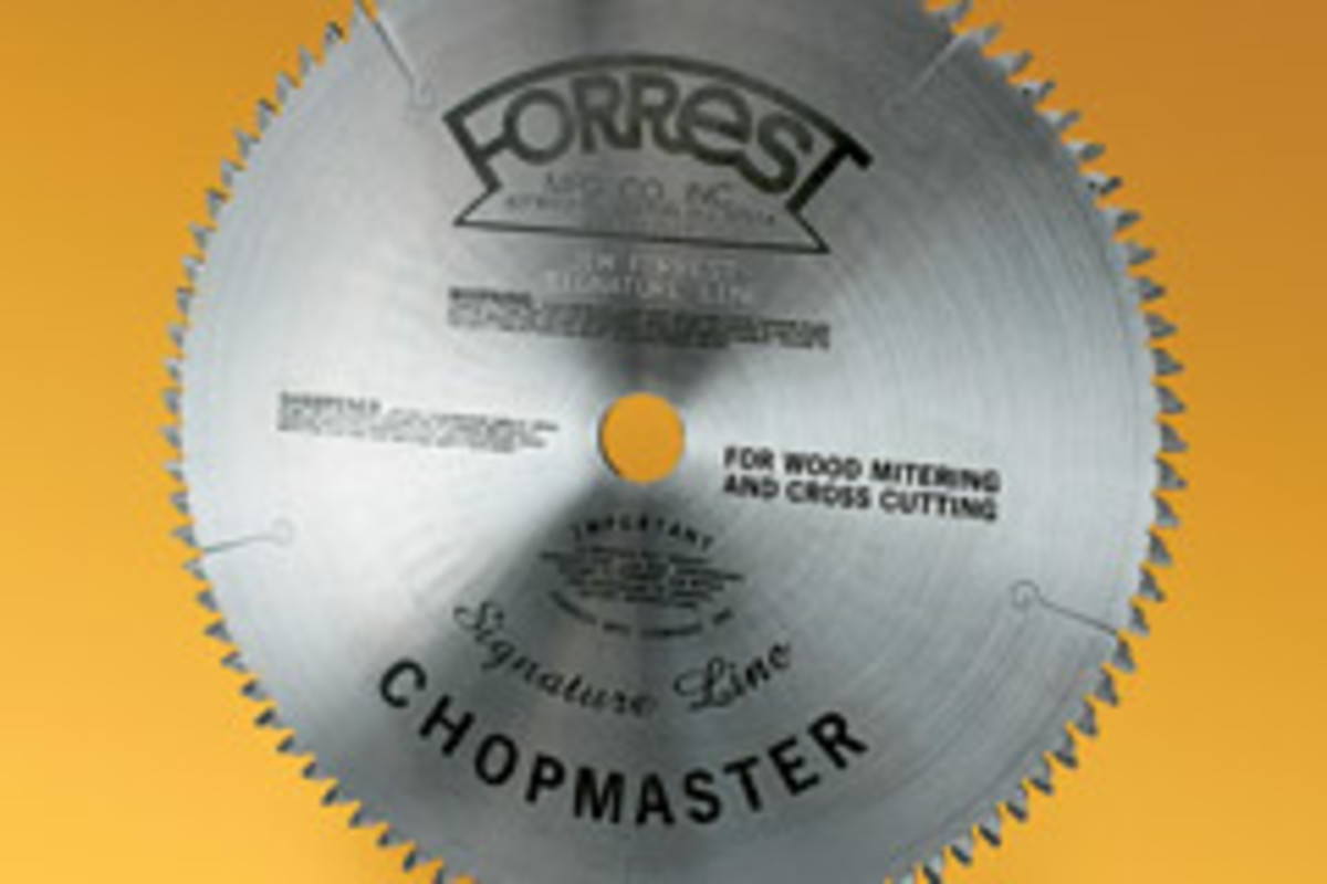 Forrest's Signature Line Chopmaster saw blade.