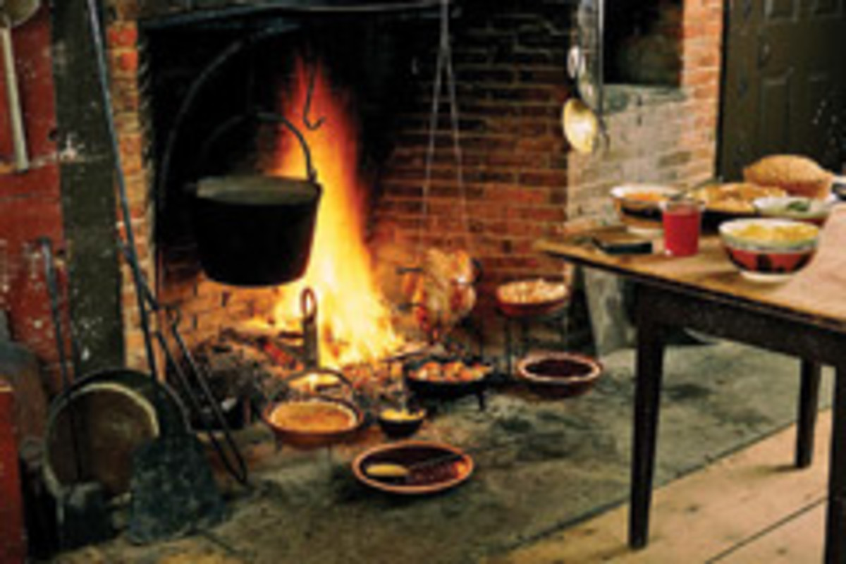 "A ""high-end"" kitchen from early New England life (1790-1840) at Old Sturbridge Village in Sturbridge, Mass."