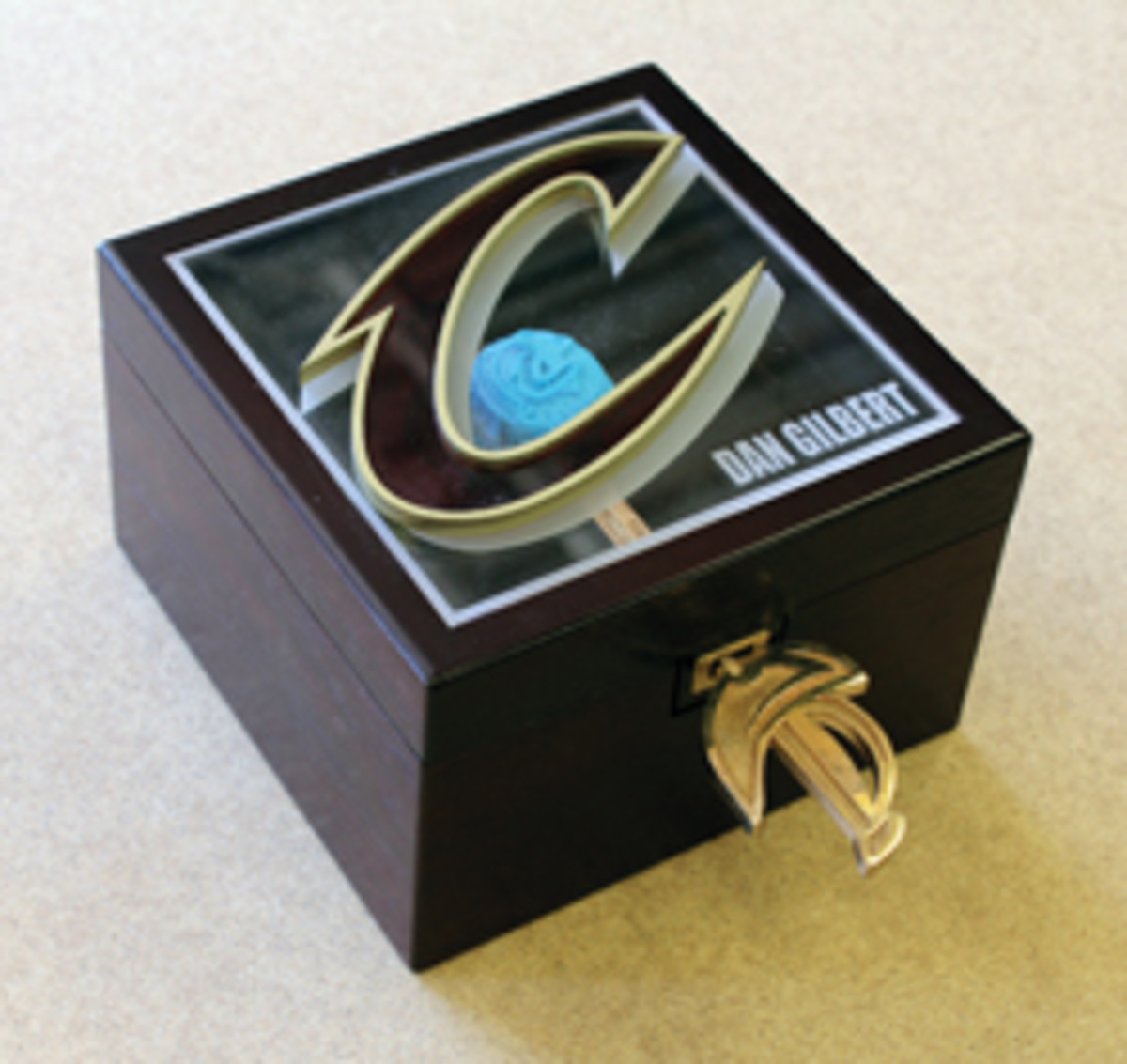 Ring box for the Cleveland Cavaliers.