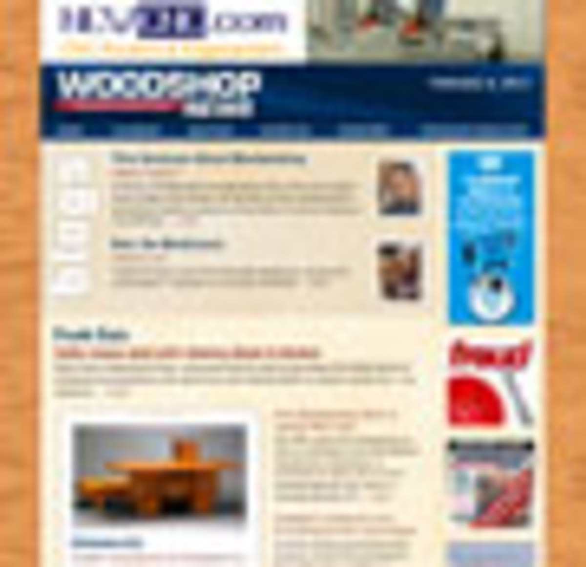woodshop news newsletter