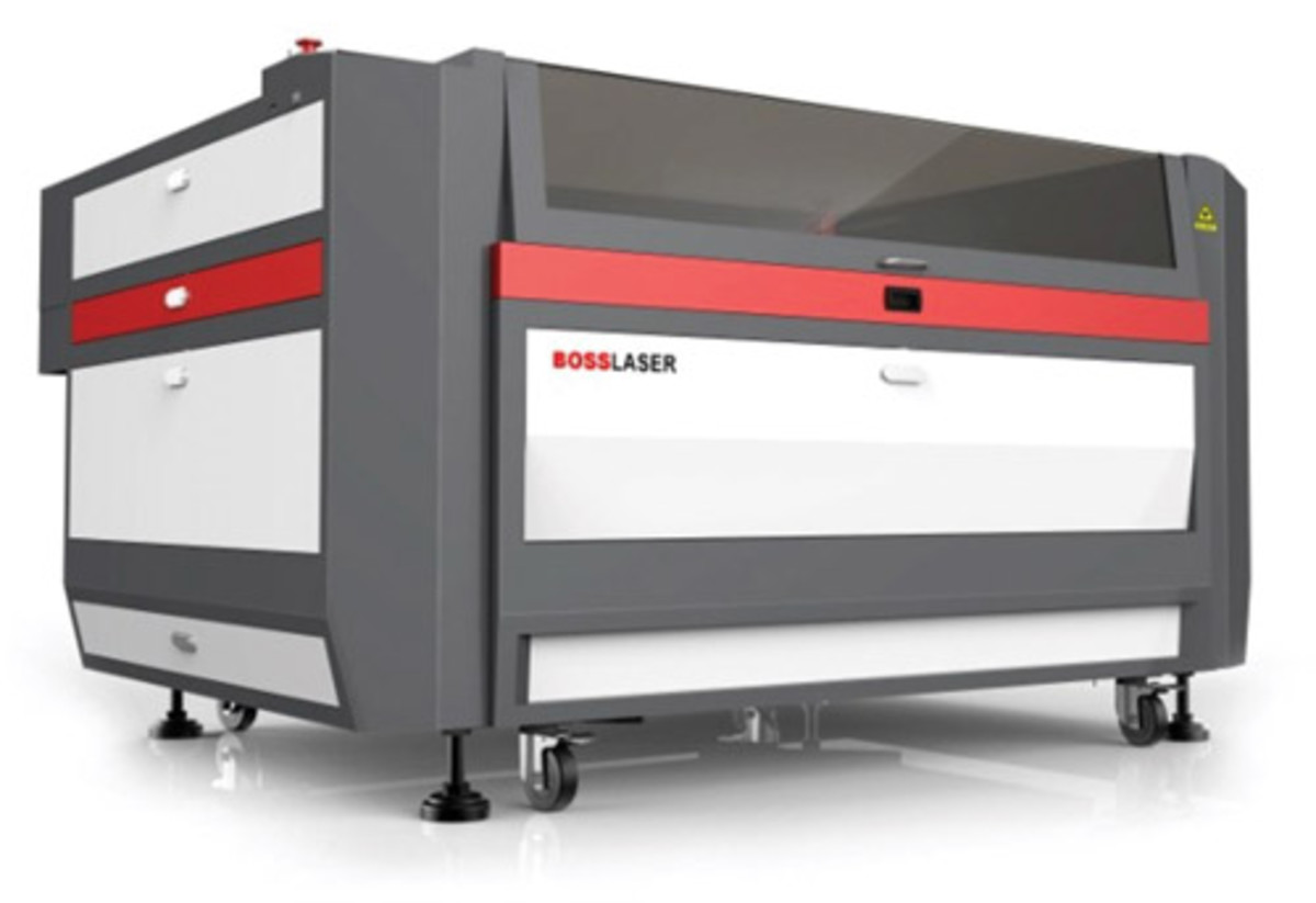 "The latest Generation 5 Boss LS-3655 offers a 14.5 percent larger engraving area compared to the standard 48"" x 36"" platforms."