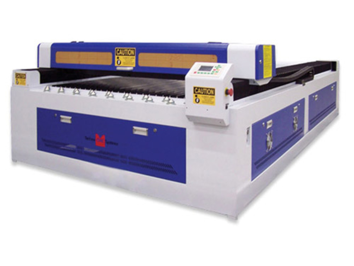 Techno's new CNC laser cutter features all-steel construction and precision linear rails.