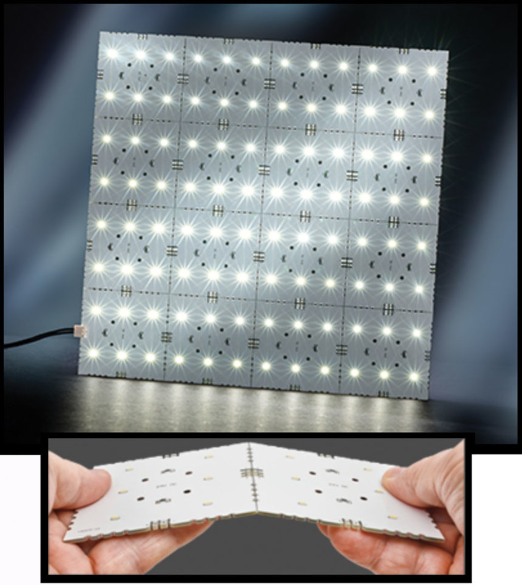 Snap panel lighting, available from Tresco Lighting
