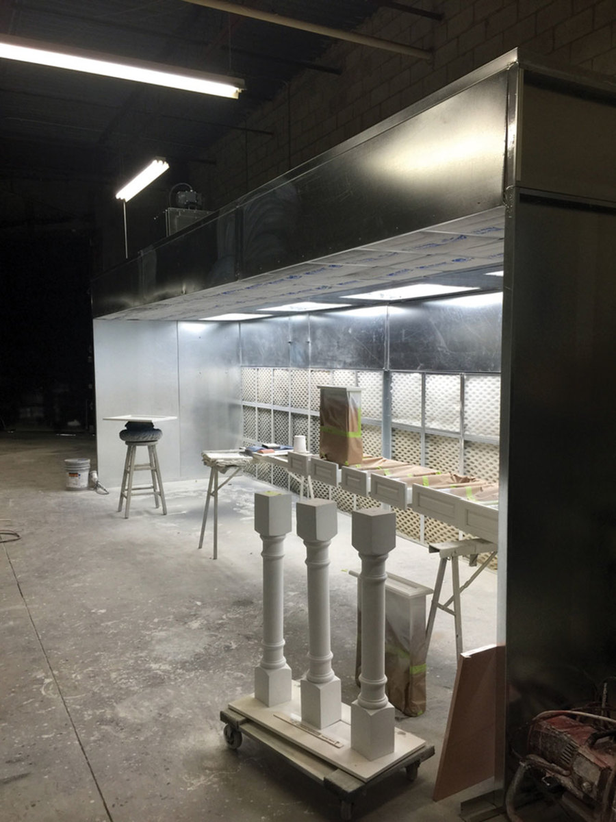 An open-face spray booth from Ventless