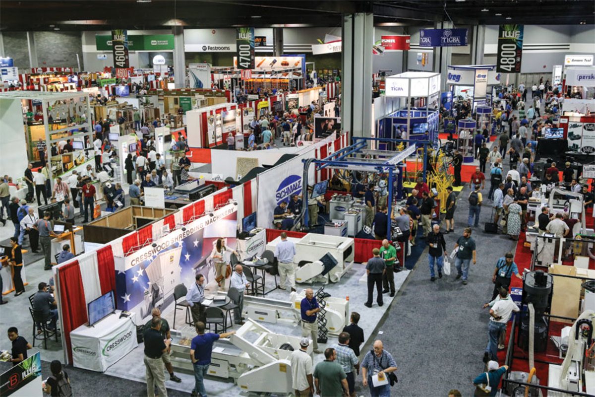The show floor at IWF 2016.