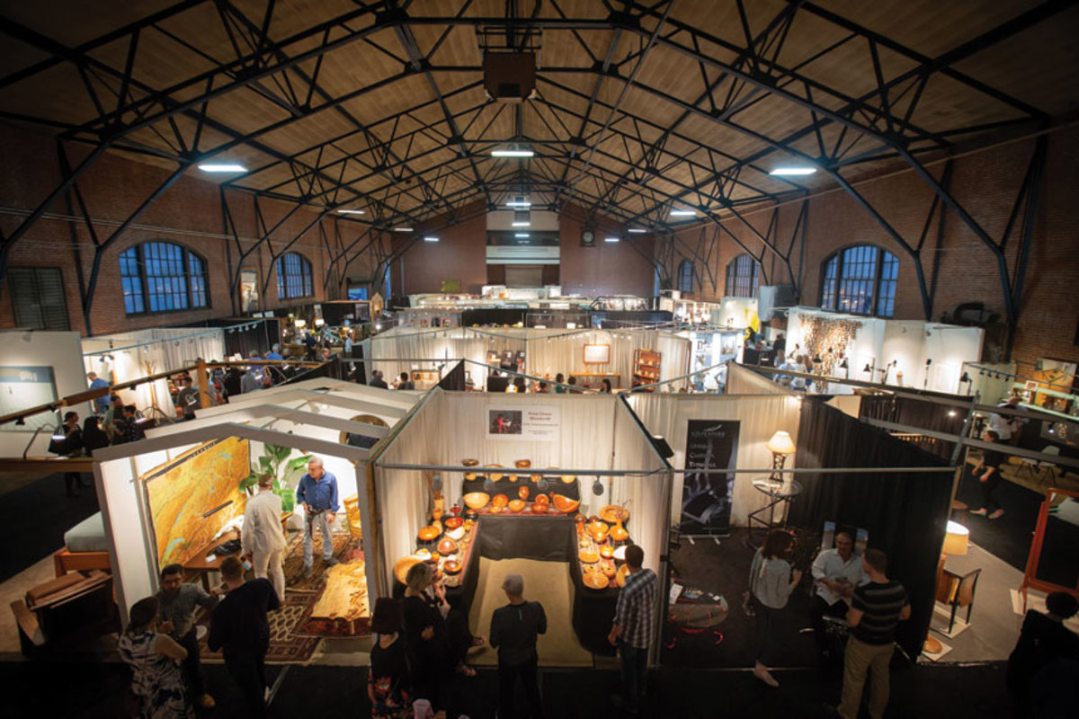 Booths featuring hand-made furniture and other items took up the main floor of the 23rd St. Armory in Philadelphia.