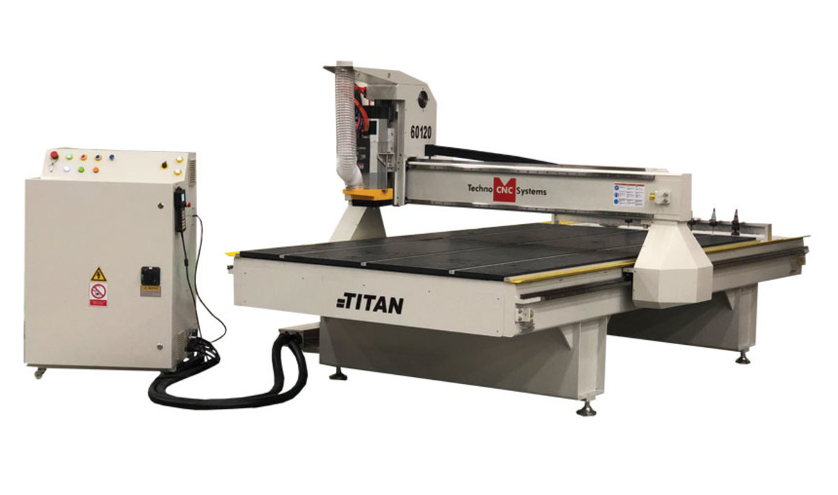 The Titan offers an automatic tool changer.