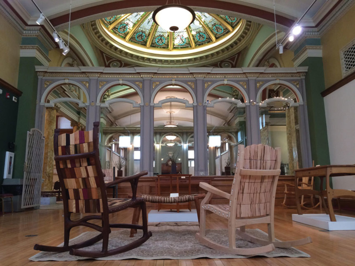 For those about to rock, the Andersen Museum of Art hosts an exhibit by the Furniture Guild of Indiana Artists.