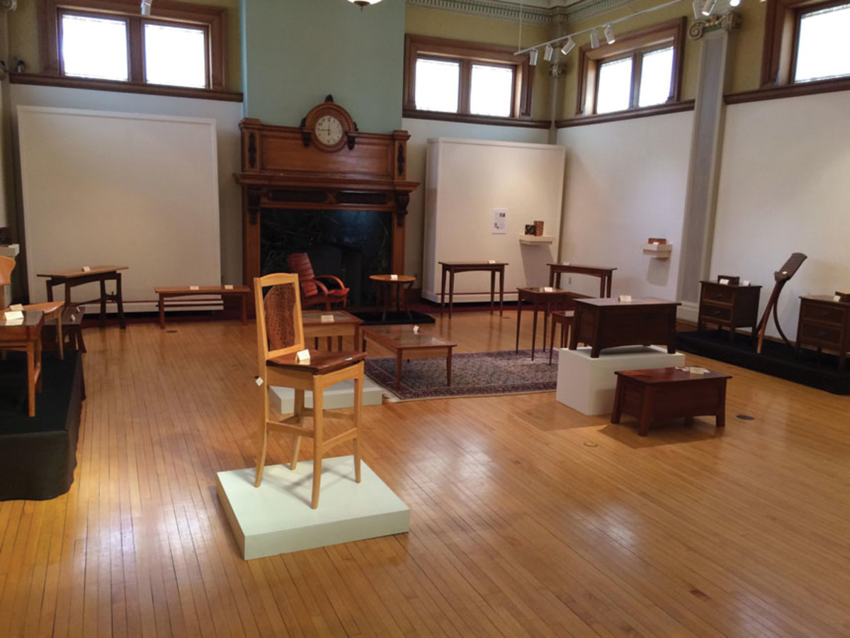 More views of the Anderson Museum exhibit featuring Hoosier furniture makers recognized by the state as Indiana Artisans.