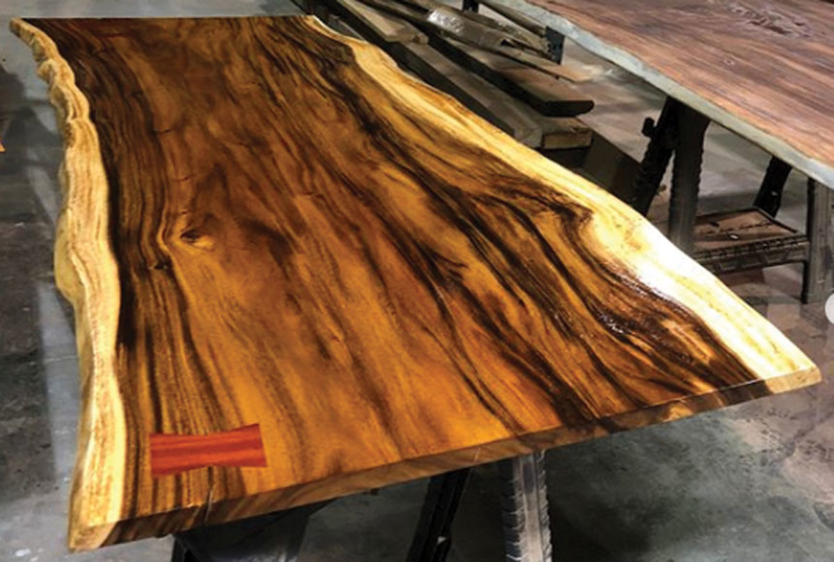 A table made with guanacaste. Photo courtesy of West Penn Hardwoods.