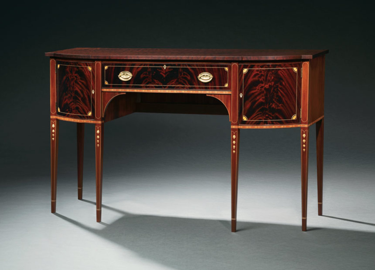"The ""On the Street"" exhibit included this Federal sideboard by Allen Eason."