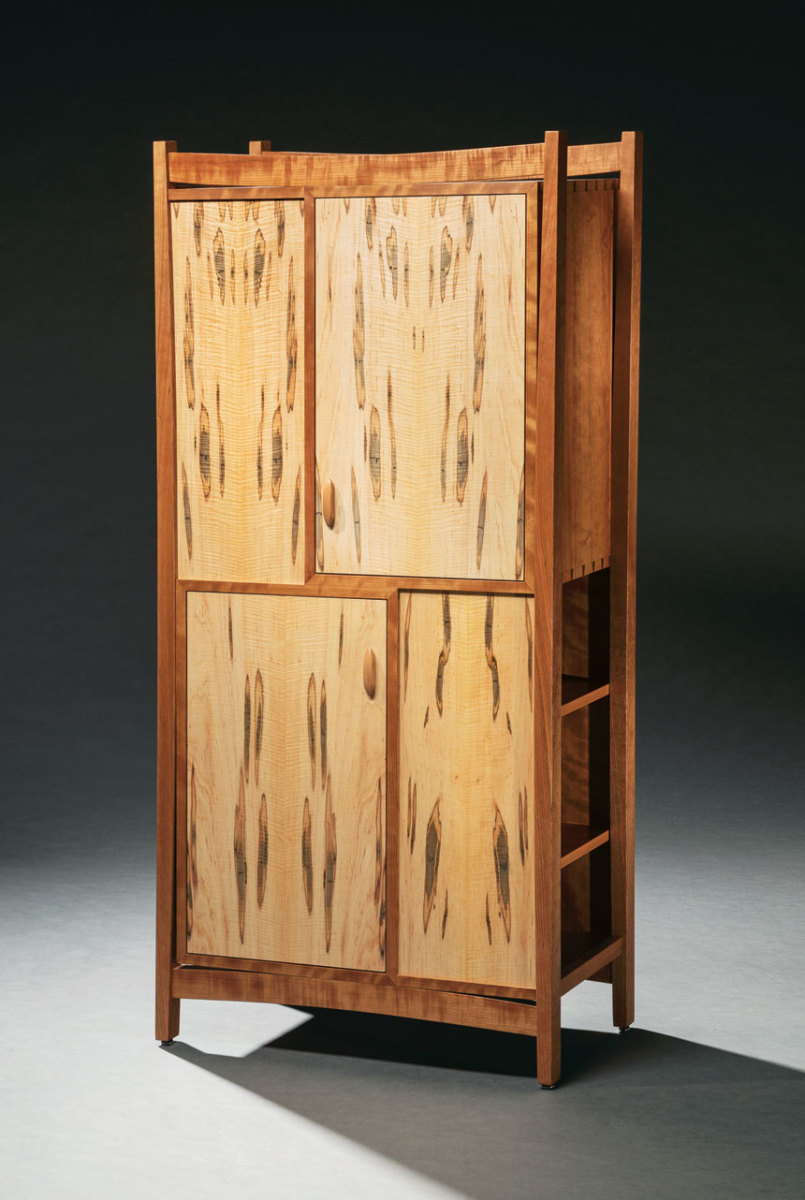 "The ""On the Street"" exhibit included this bookcase by Eric Windhurst."