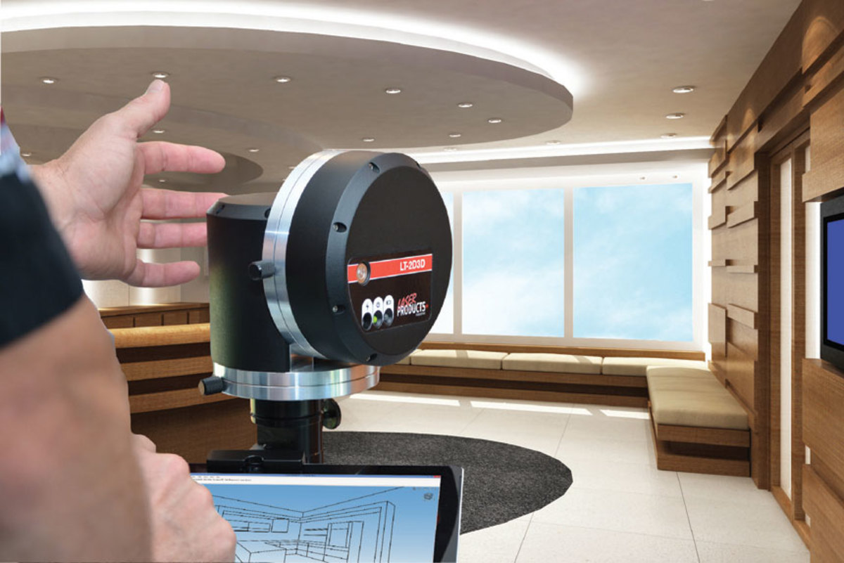 With the LT-2D3D-C digital measuring system from Laser Product Industries, woodworkers can take jobsite measurements and produce a 3D project rendering for the client in minutes.