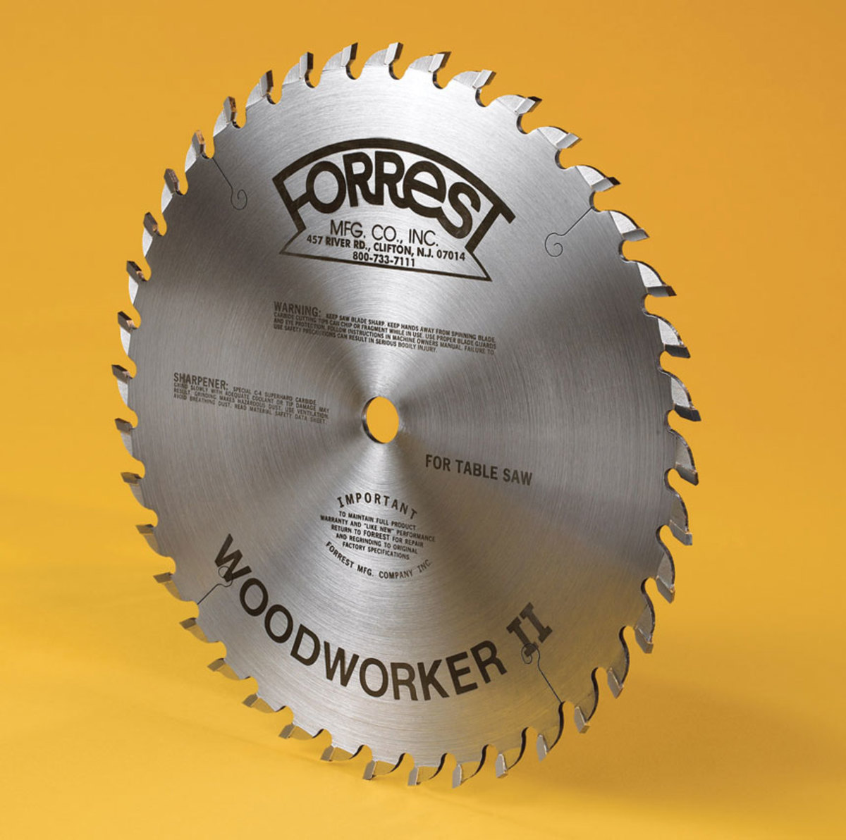 "Forrest's 12"" 48-tooth blade"