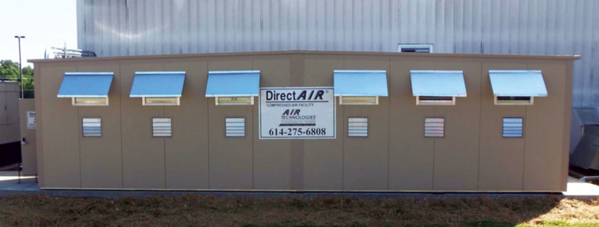 A DirectAir modular compressed air facility, available from Air Technologies.