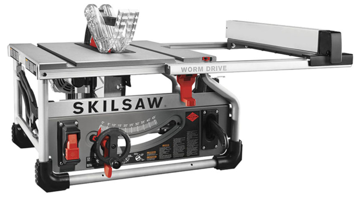 "The new 10"" worm-drive saw from Skil"