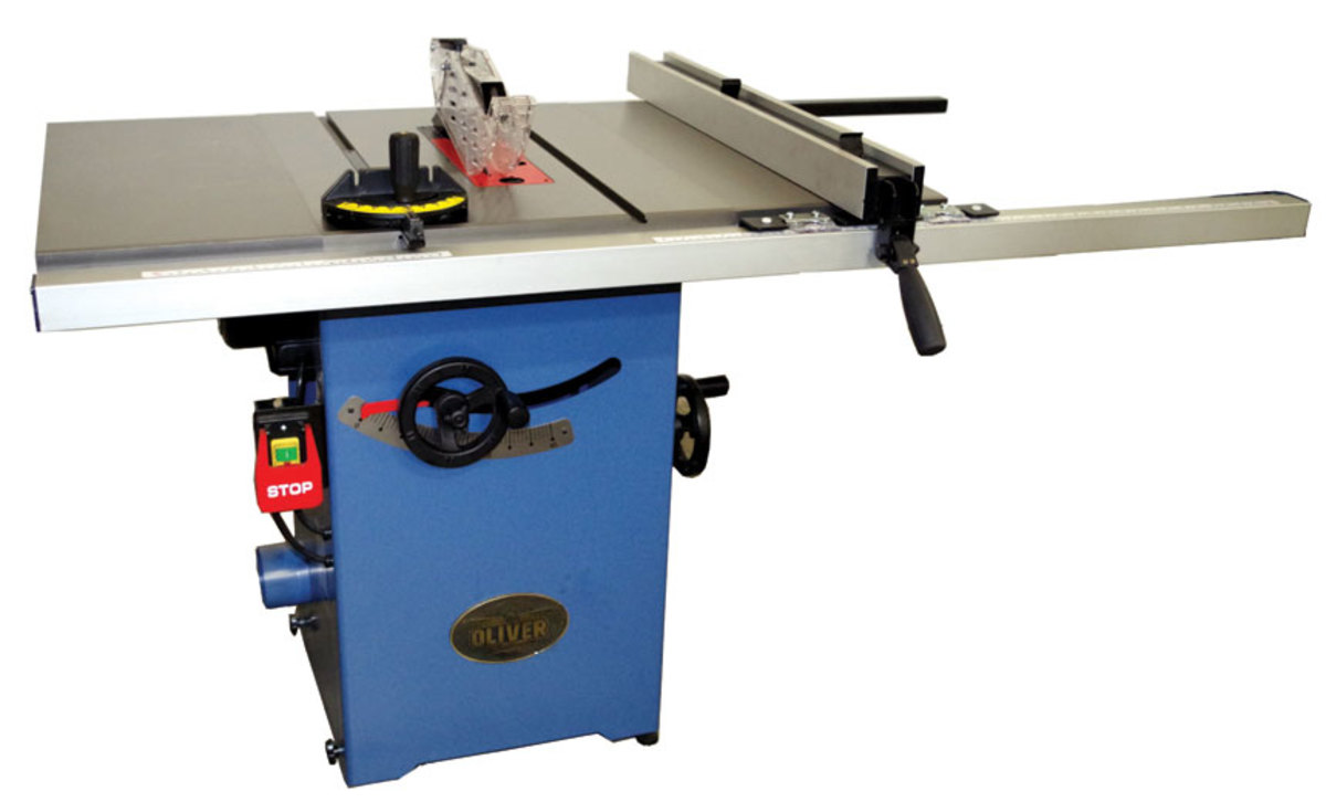 """Oliver has a couple of new 10"""" table saws."""