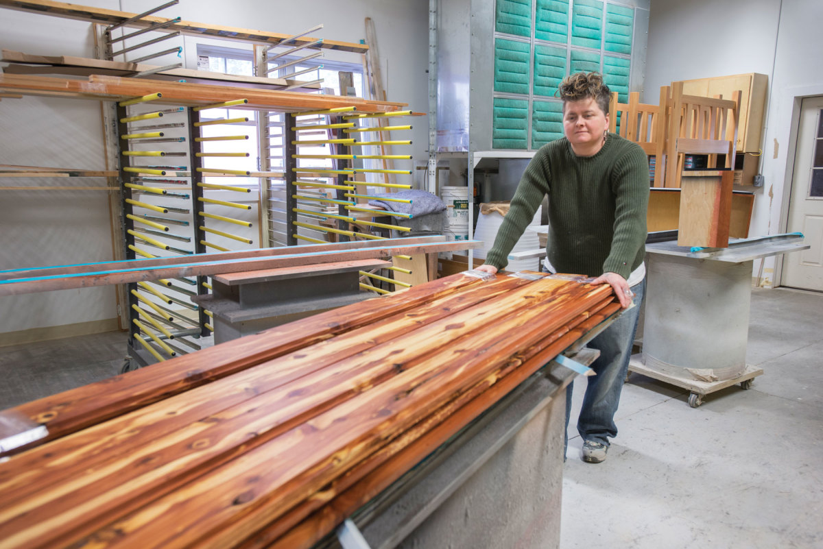 Demand for hardwoods is strong, due in large part to an active residential construction market.