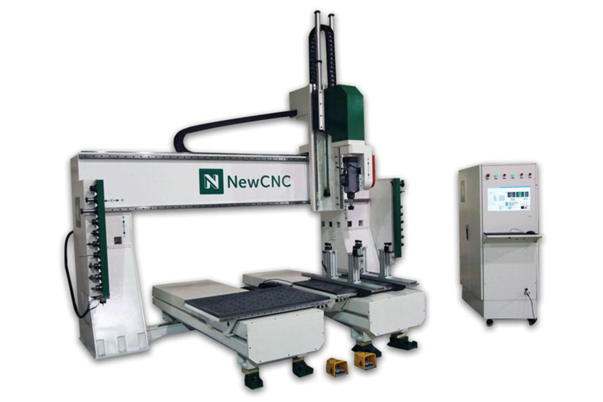 The 5-axis machine from NewCNC