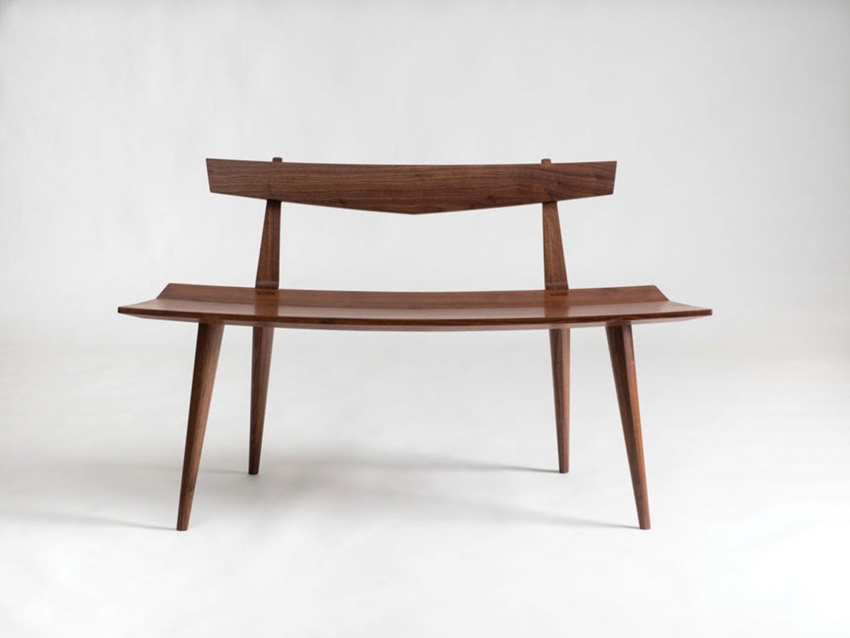 Maine Wood 2018 includes this bench seat by Aled Lewis.