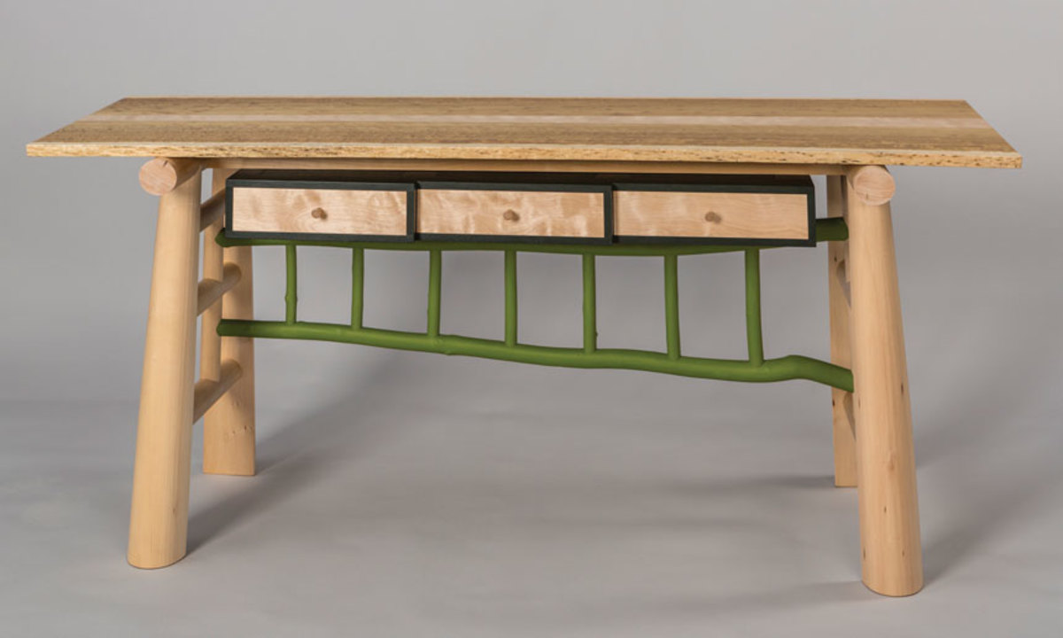 """Orchard Table"" by David Boyle at Maine Wood 2018."