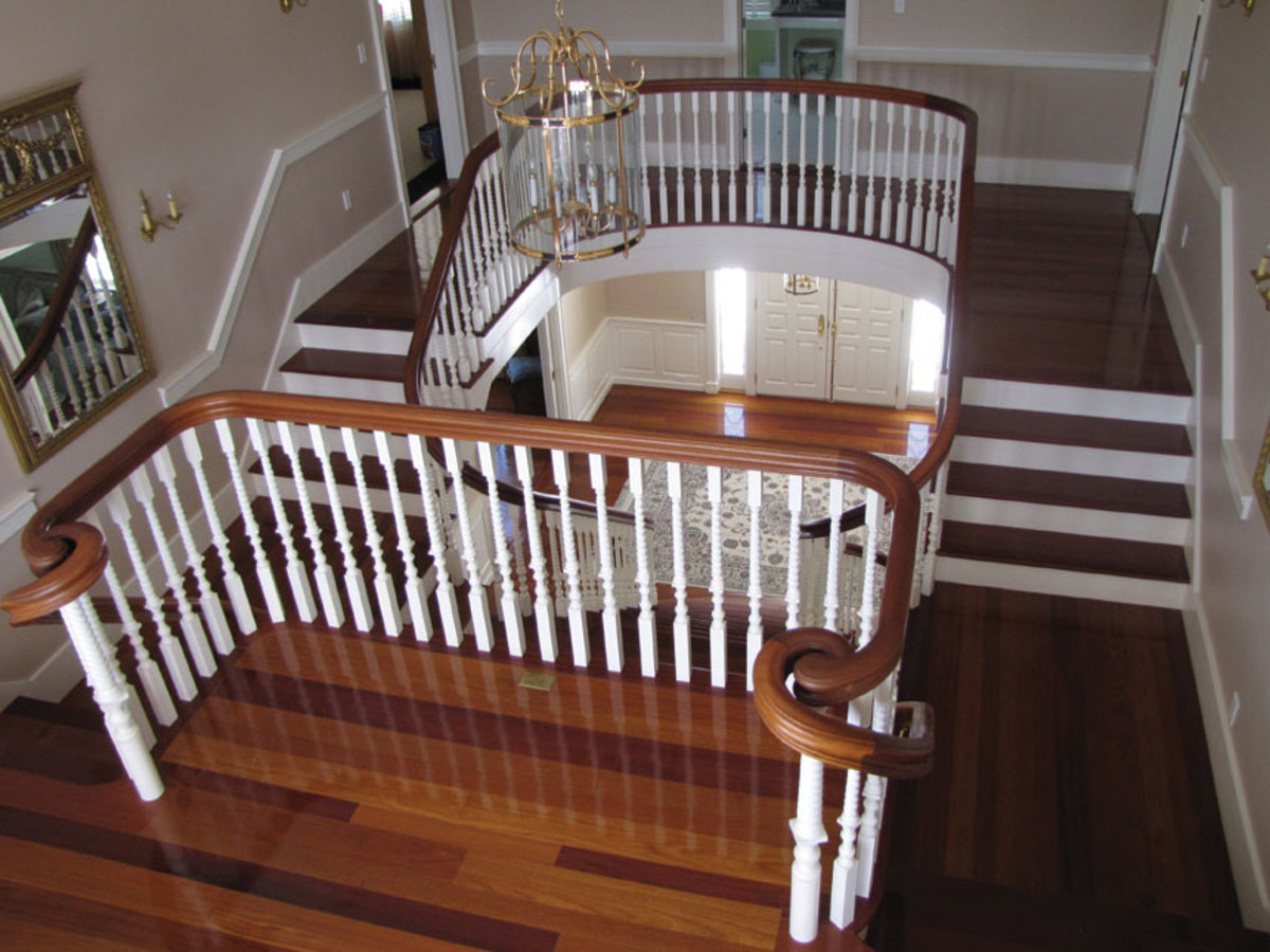 A stunning staircase from the shop's extensive portfolio.