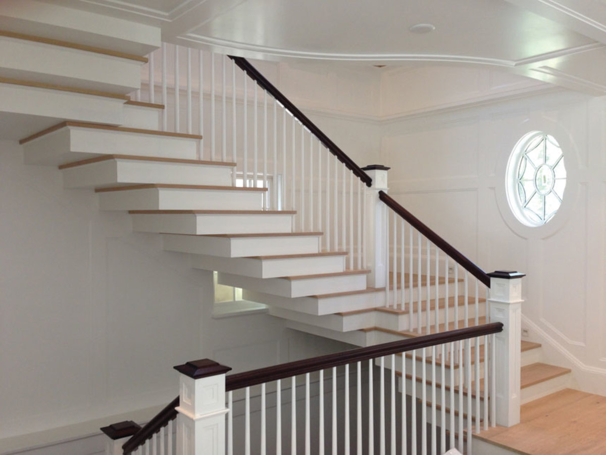 Another stunning staircase from the shop's extensive portfolio.