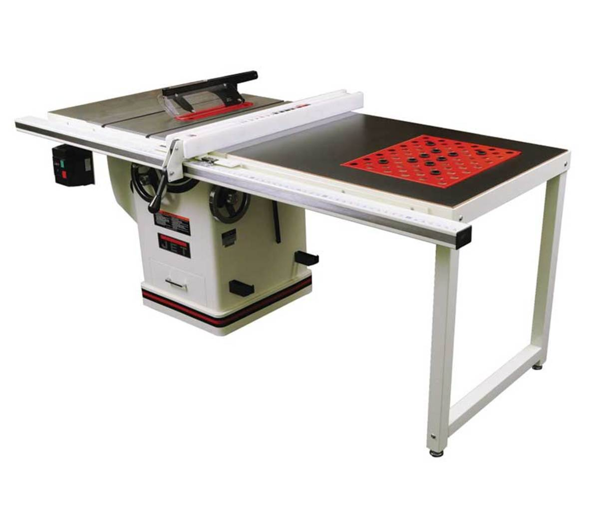 The Deluxe Xacta saw from Jet with downdraft table.