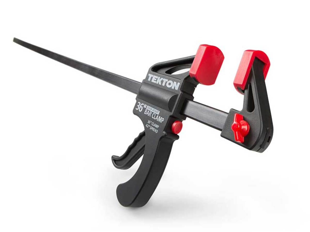 Texton's racheting pistol grip clamp