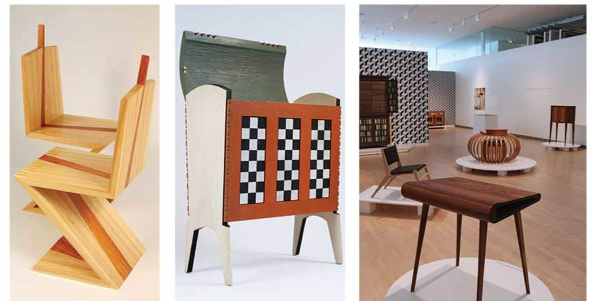 "Furniture featured in the ""Handmade for Home: The Craft of Contemporary Design"" exhibit, held Mar. 30 to May 19 at the Museum of Wisconsin Art in West Bend, Wis."