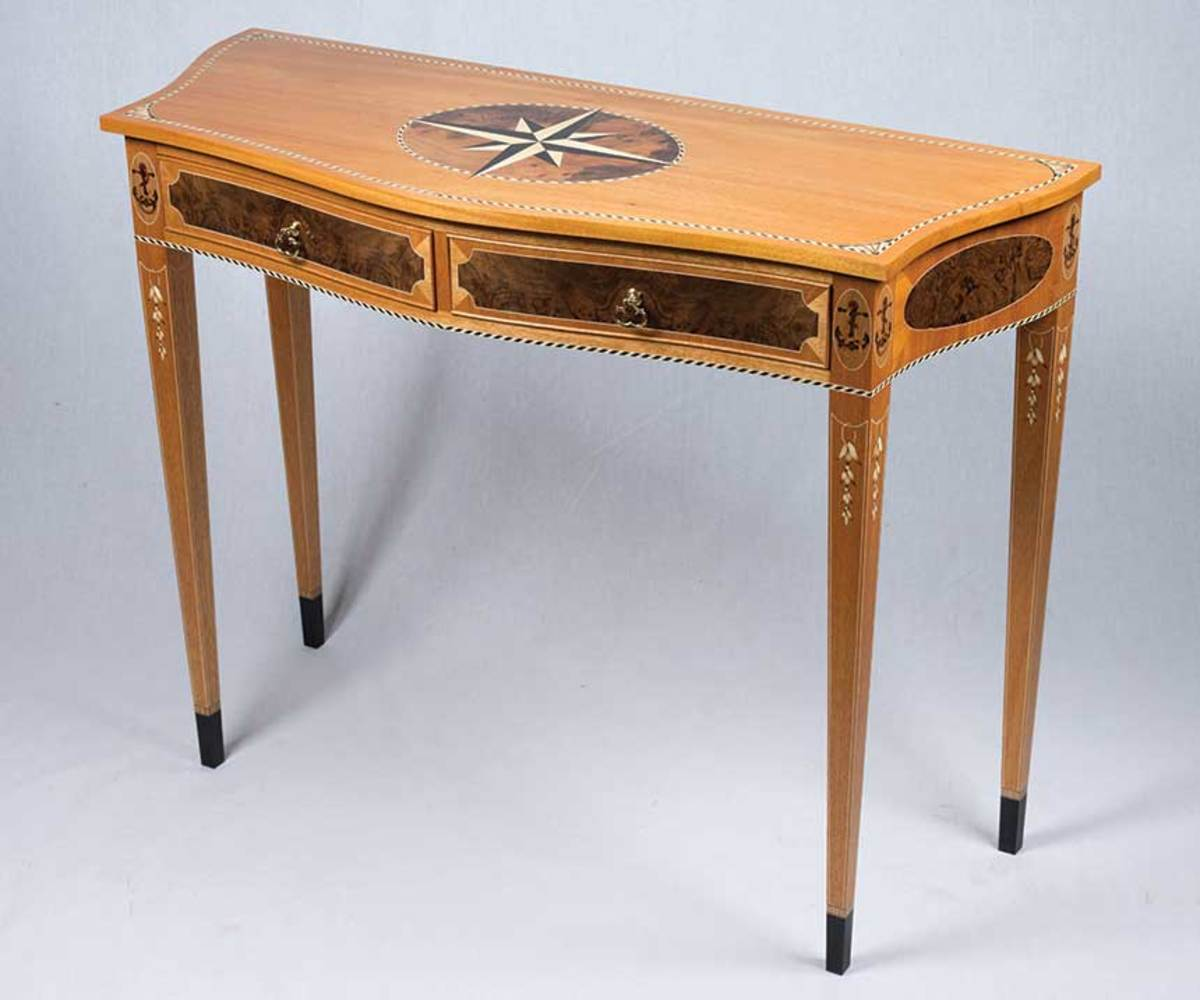 "Nicholas Maraldo's ""Nautical Marquetry Table""."