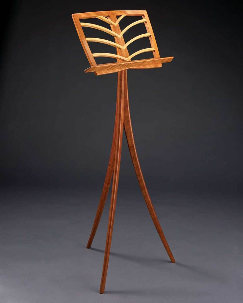 Music stand by LexArt exhibitor Ted Blachly.