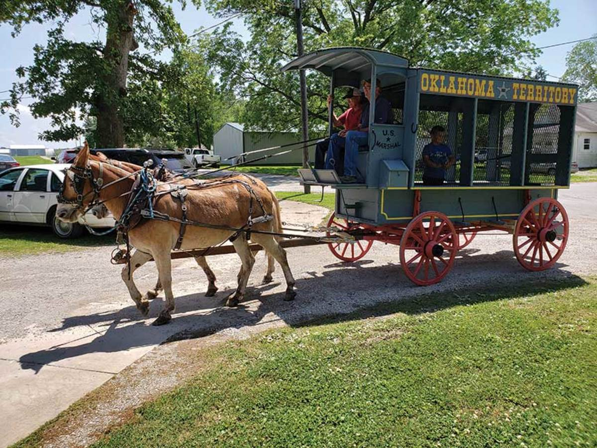 The Whites celebrated with wagon rides and a big party.