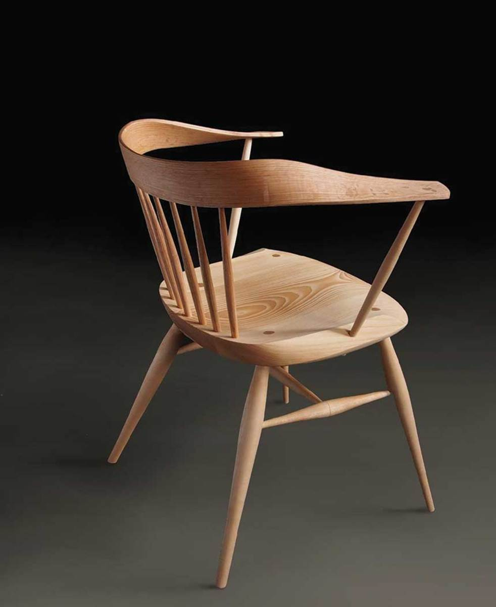 "The Messler Gallery's exhibit features this ""Folded Lowback"" chair by Peter Galbert."