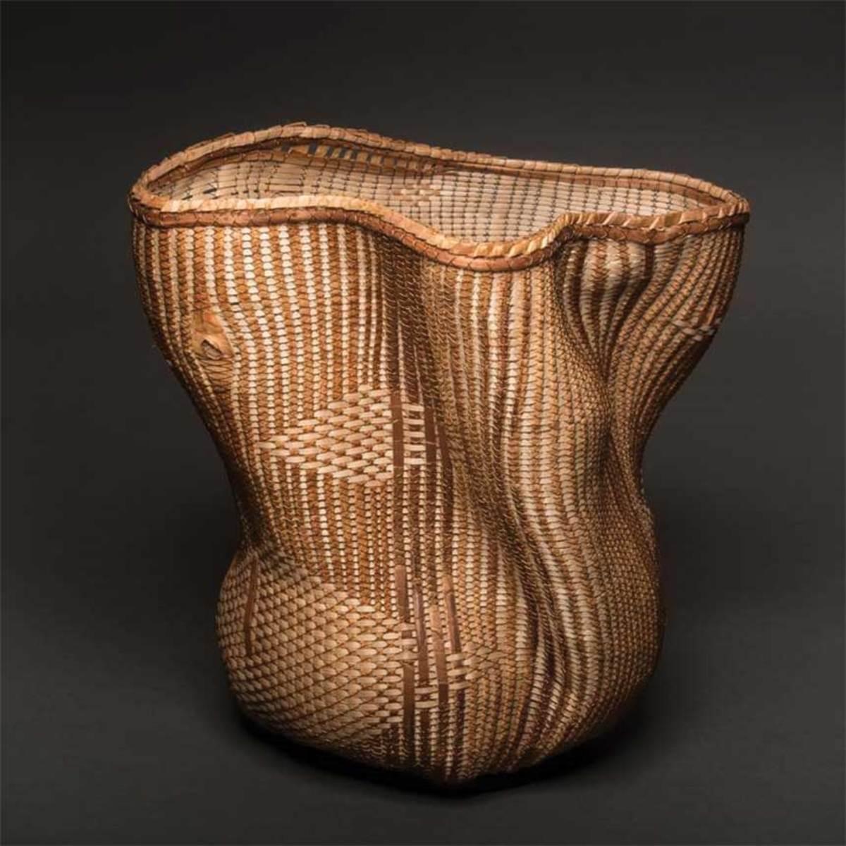 A sculptural basket (below) by Polly Adams Sutton.